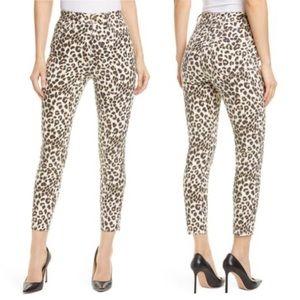 Frame Ali Leopard Print High Waist Skinny Jeans